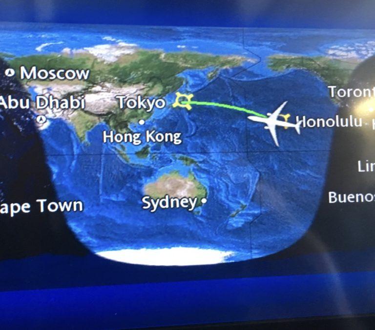 飛行機の進路